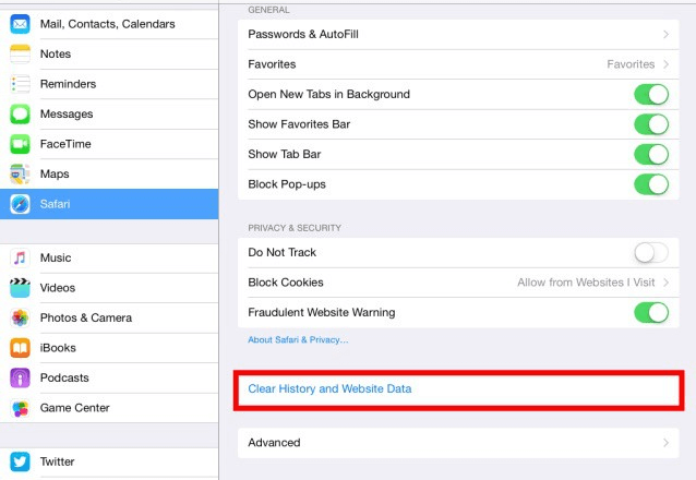 clear cache on ipad, clearing cache for ipad