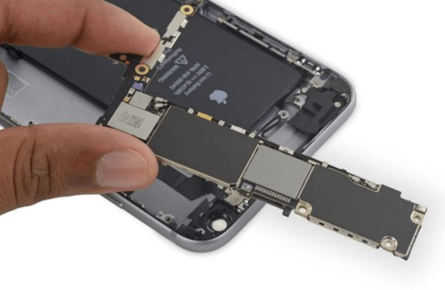 placing in the iphone 6 logic board